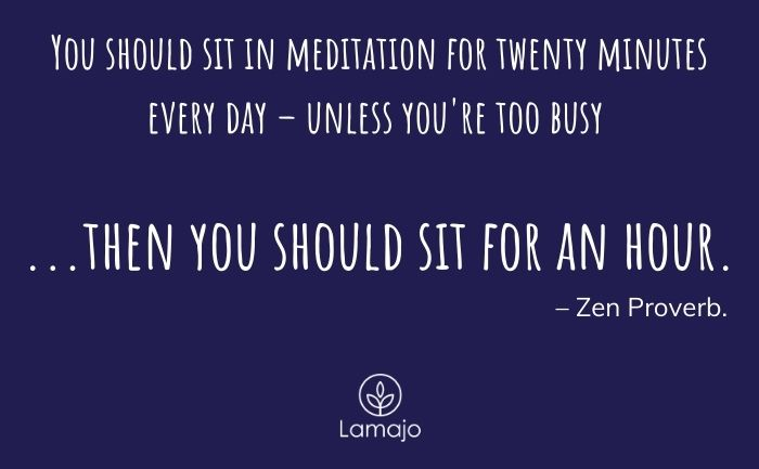 sit in meditation for 20 minutes quote. - is discipline required for meditation
