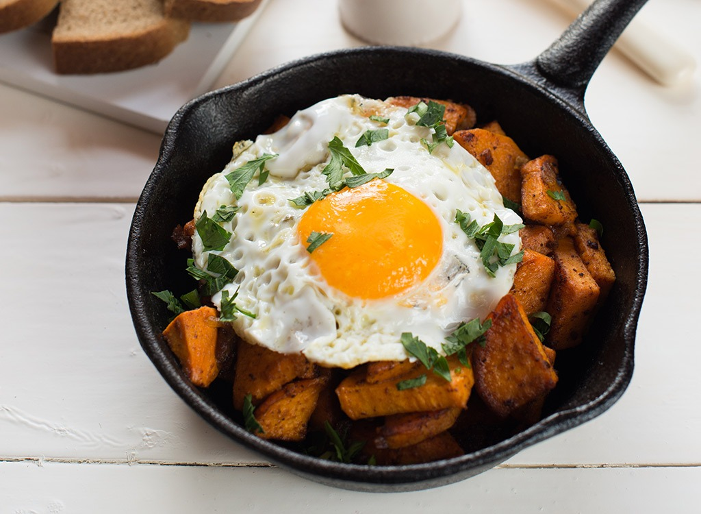 Sweet potato egg hash - best ways to speed up your metabolism